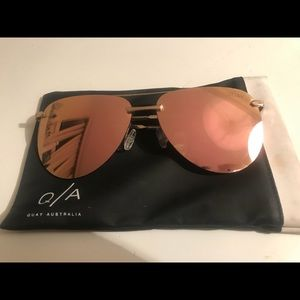Quay Australia Playa Sunglasses Rose Gold